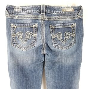 Rerock for Express Jeans Sz 4R Bootcut Stretch